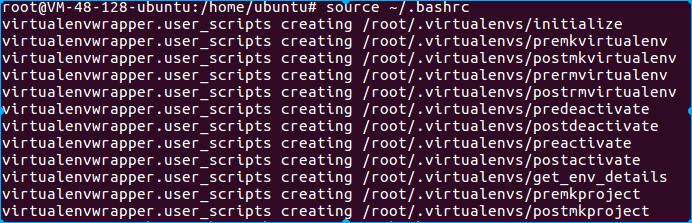 配置virtualwrapper的环境变量成功